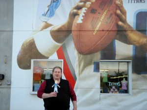 Maestro and I outside LP FIeld